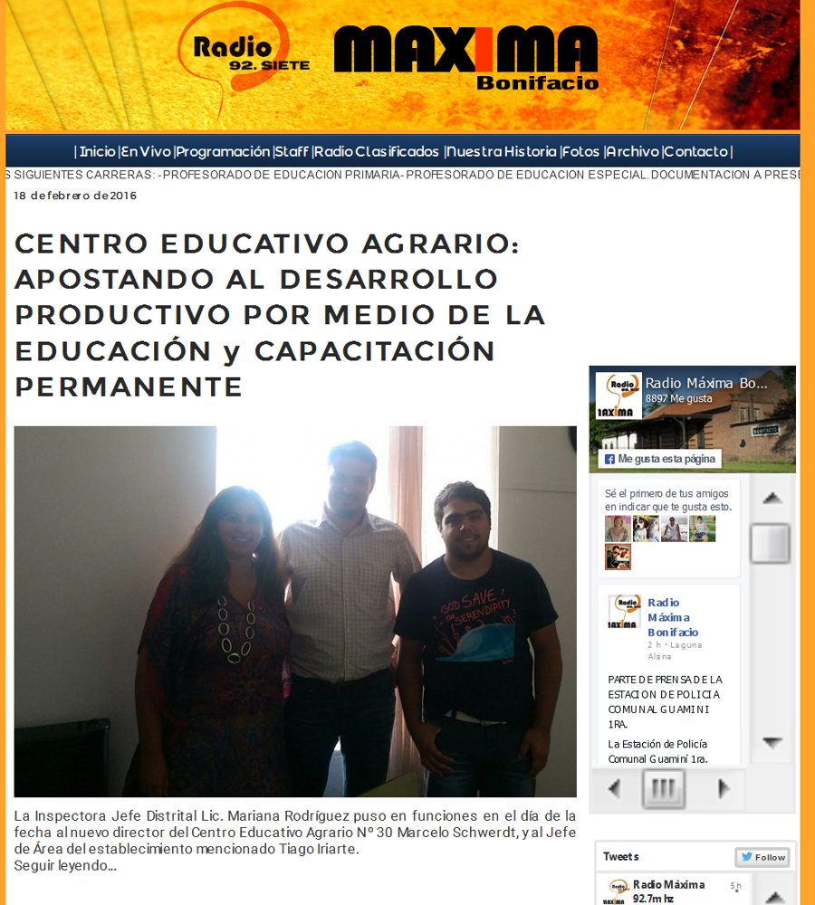 CENTRO EDUCATIVO AGRARIO APOSTANDO AL DESARROLLO PRODUCTIVO POR MEDIO DE LA EDUCACIÓN y CAPACITACIÓN PERMANENTE