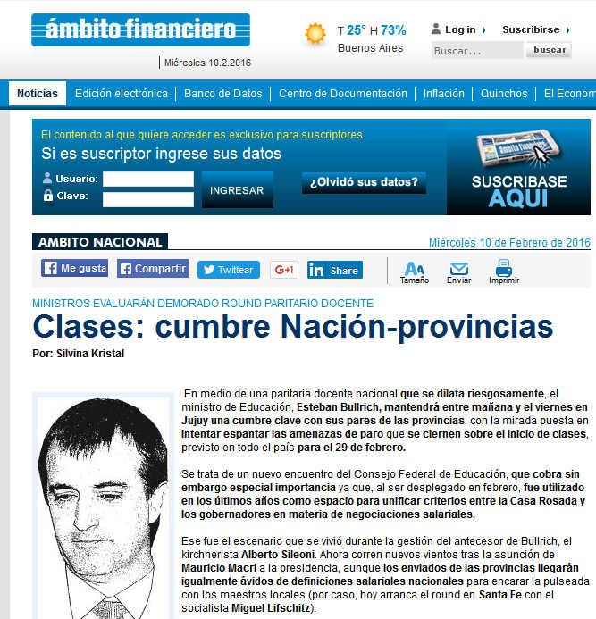 Clases cumbre Nación-provincias Ambito