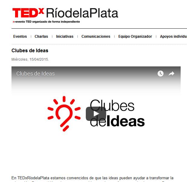 Clubes de Ideas - www.tedxriodelaplata.org