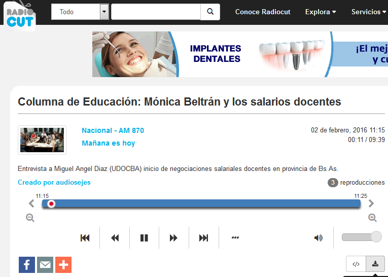 Columna de Educación Mónica Beltrán y los salarios docentes - Radiocut