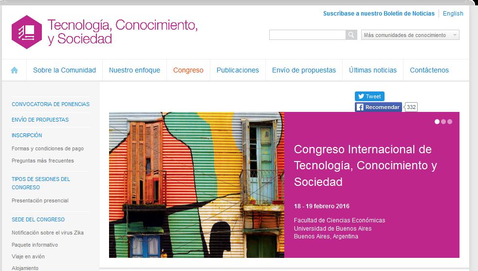 Congreso - Tecnología Conocimiento y Sociedad