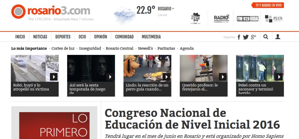 Congreso Nacional de Educación de Nivel Inicial 2016 - Rosario3.com