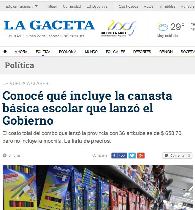 Conocé qué incluye la canasta básica escolar que lanzó el Gobierno - La Gaceta