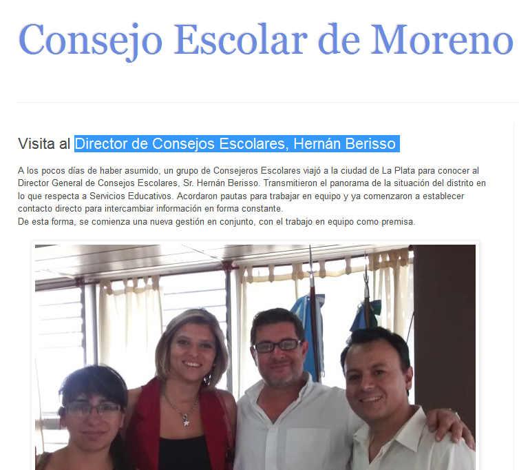 Consejo Escolar de Moreno Visita al Director de Consejos Escolares, Hernán Berisso