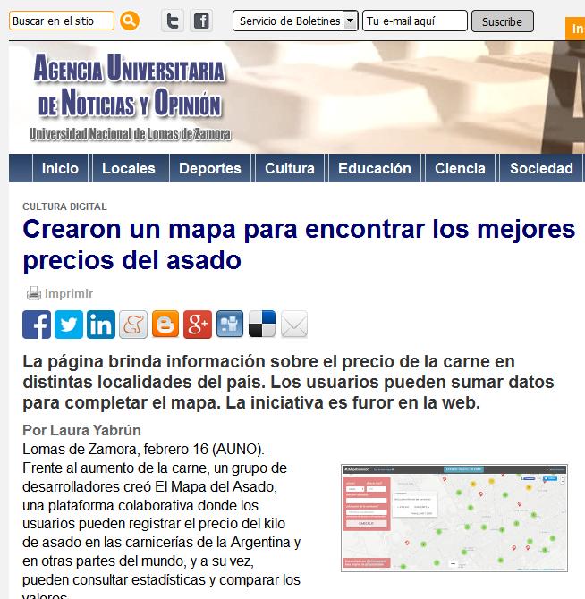 Crearon un mapa para encontrar los mejores precios del asado - Agencia Universitaria de Noticias y Opinión