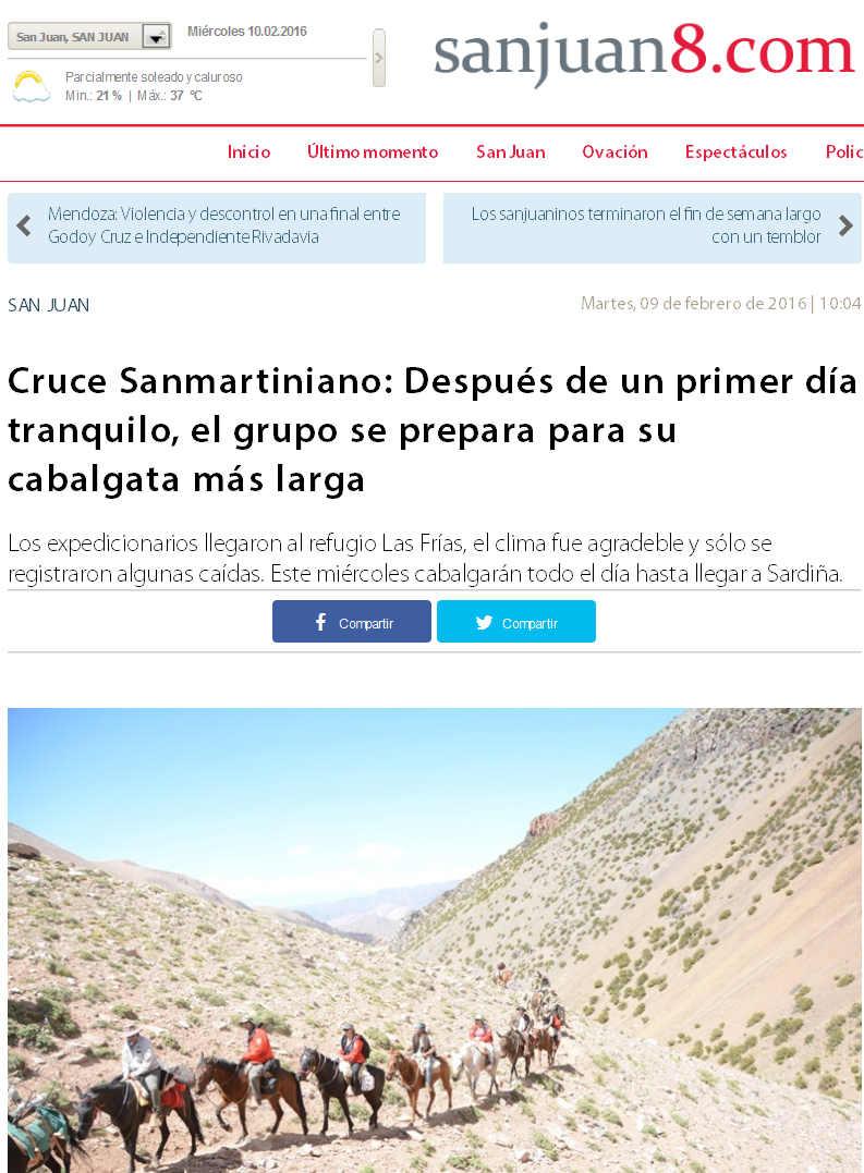Cruce Sanmartiniano 2016