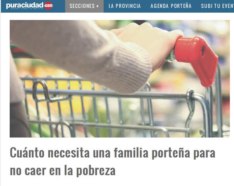 Cuánto necesita una familia porteña para no caer en la pobreza – Pura Ciudad - Noticias de Buenos Aires