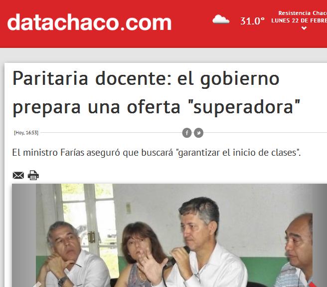 DataChaco.com – Noticias de Chaco - Paritaria docente el gobierno prepara una oferta 'superadora'