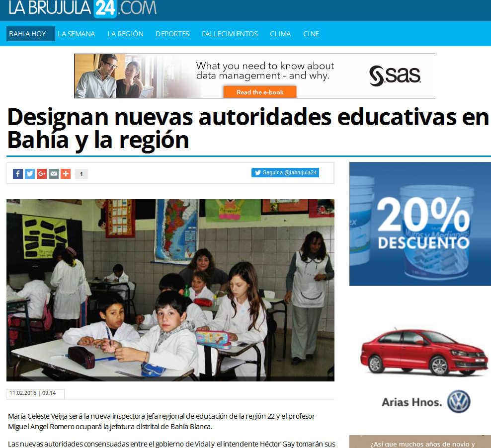 Designan nuevas autoridades educativas en Bahía y la región - La Brújula 24(1)