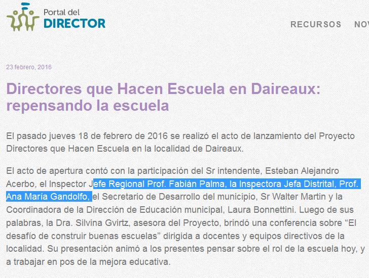 Directores que Hacen Escuela en Daireaux repensando la escuela