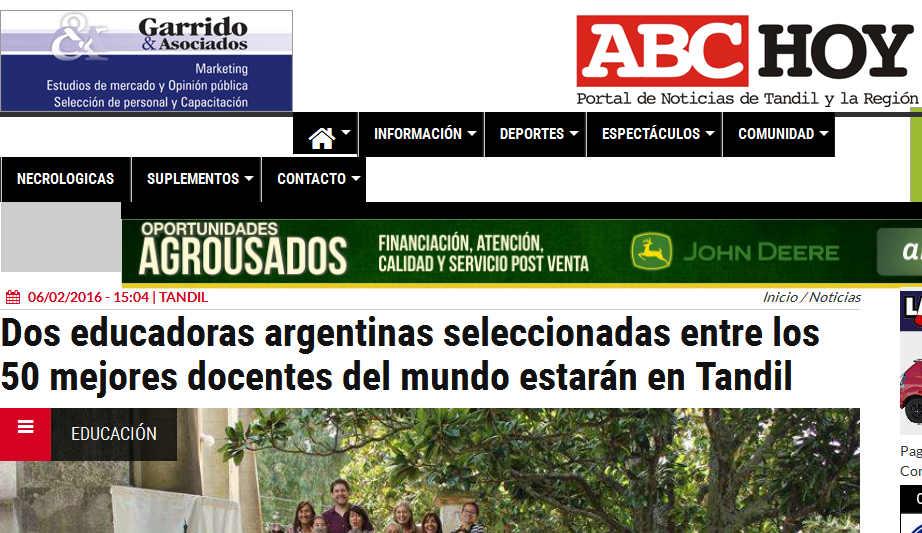 Dos educadoras argentinas seleccionadas entre los 50 mejores docentes del mundo estarán en Tandil