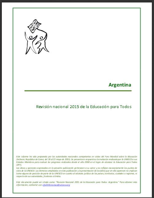 Educación para Todos revisiones nacionales de la EPT al 2015, Argentina; 2014 - 230307S.pdf