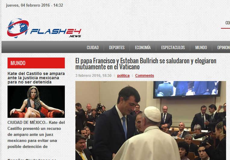 El papa Francisco y Esteban Bullrich se saludaron y elogiaron mutuamente en el Vaticano