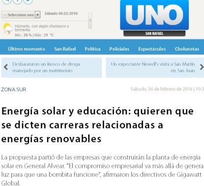 Energía solar y educación quieren que se dicten carreras relacionadas a energías renovables - Zona Sur - unosanrafael.com.ar