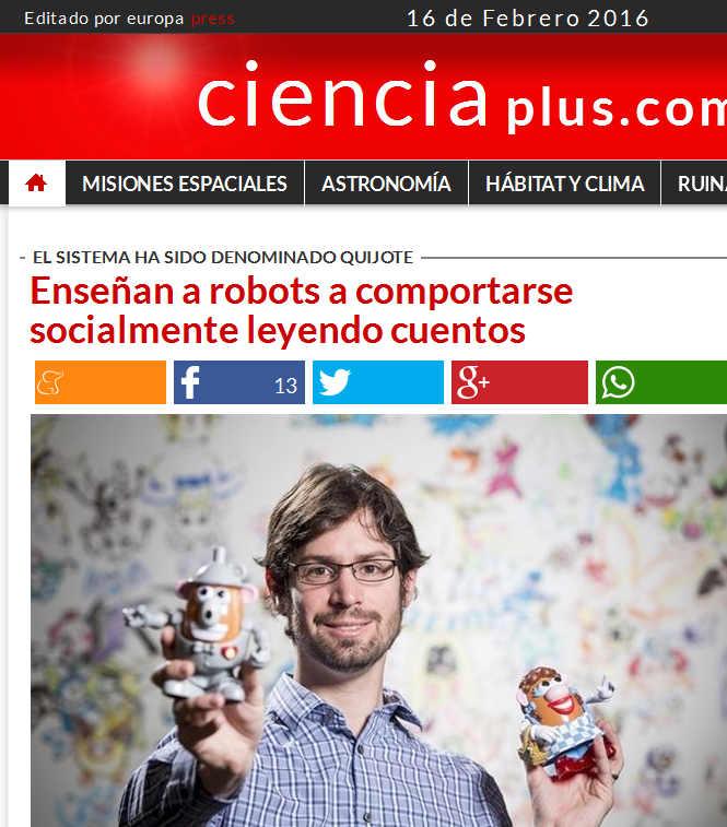 Enseñan a robots a comportarse socialmente leyendo cuentos