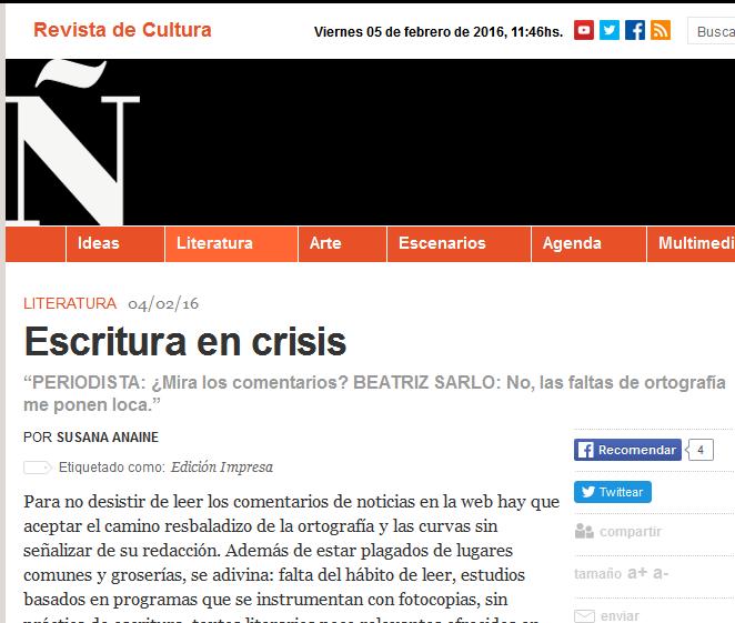 Escritura en crisis