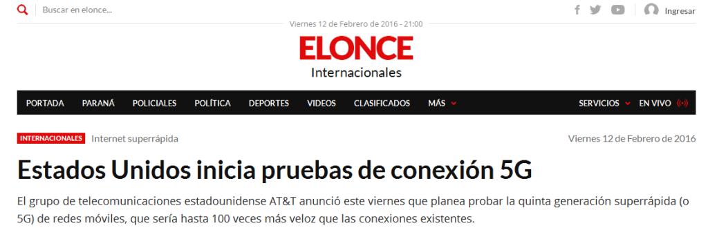 Estados Unidos inicia pruebas de conexión 5G - Internacionales - Elonce.com