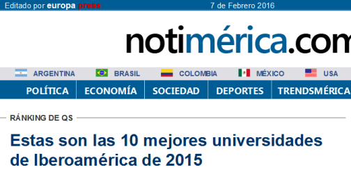 Estas son las 10 mejores universidades de Iberoamérica de 2015