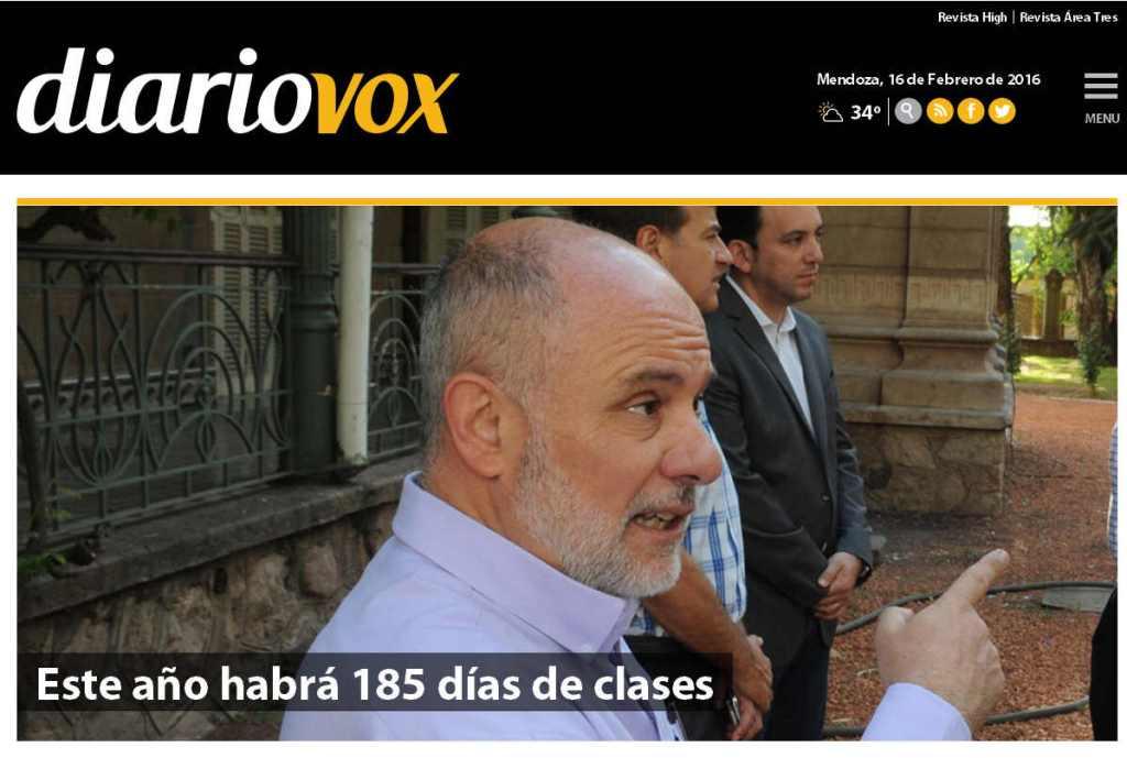 Este año habrá 185 días de clases – Diario Vox