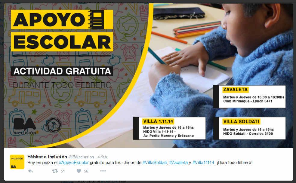 Etiqueta #ApoyoEscolar en Twitter