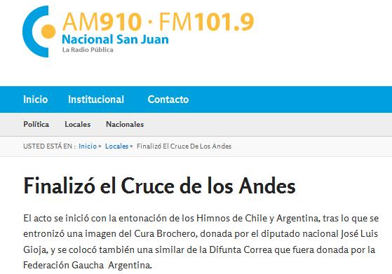 Finalizó el Cruce de los Andes - Radio Nacional San Juan