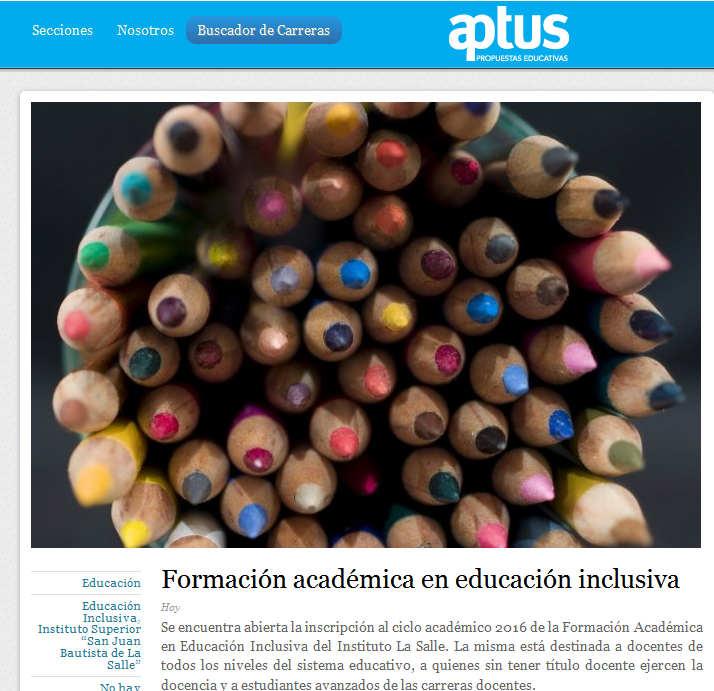 Formación académica en educación inclusiva