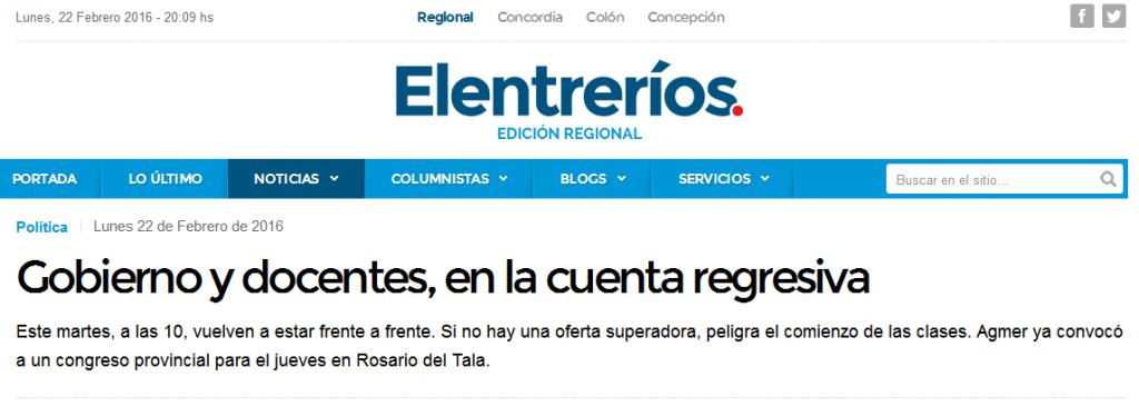 Gobierno y docentes, en la cuenta regresiva - Política - elentrerios.com
