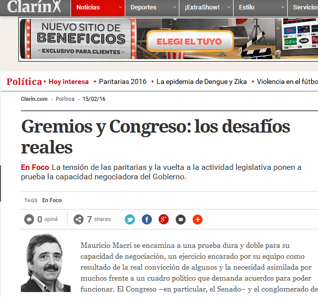 Gremios y Congreso los desafíos reales