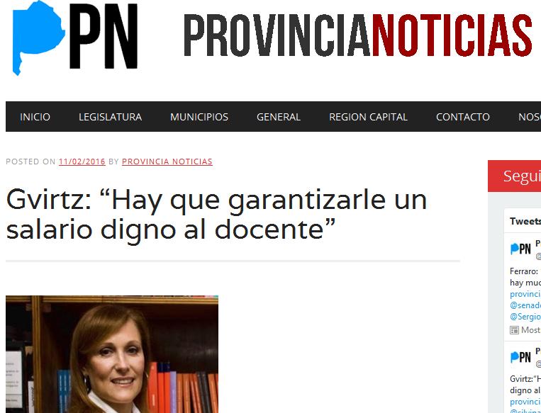 """Gvirtz """"Hay que garantizarle un salario digno al docente"""" - Provincia Noticias"""