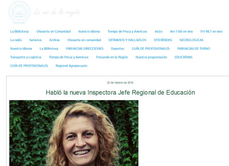Habló la nueva Inspectora Jefe Regional de Educación