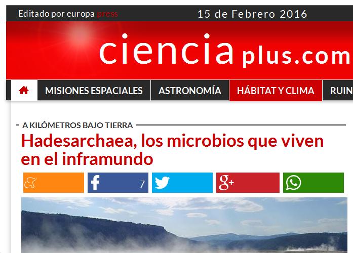 Hadesarchaea, los microbios que viven en el inframundo