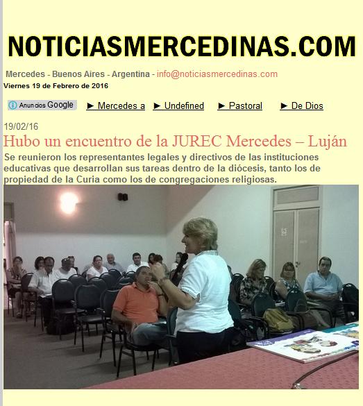 Hubo un encuentro de la JUREC Mercedes – Luján - NOTICIASMERCEDINAS.COM - Mercedes, Buenos Aires, Argentina