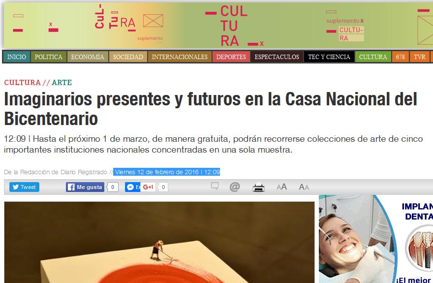 Imaginarios presentes y futuros en la Casa Nacional del Bicentenario