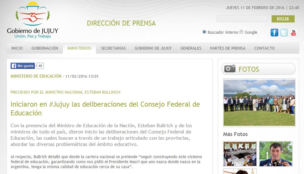 Iniciaron en #Jujuy las deliberaciones del Consejo Federal de Educación