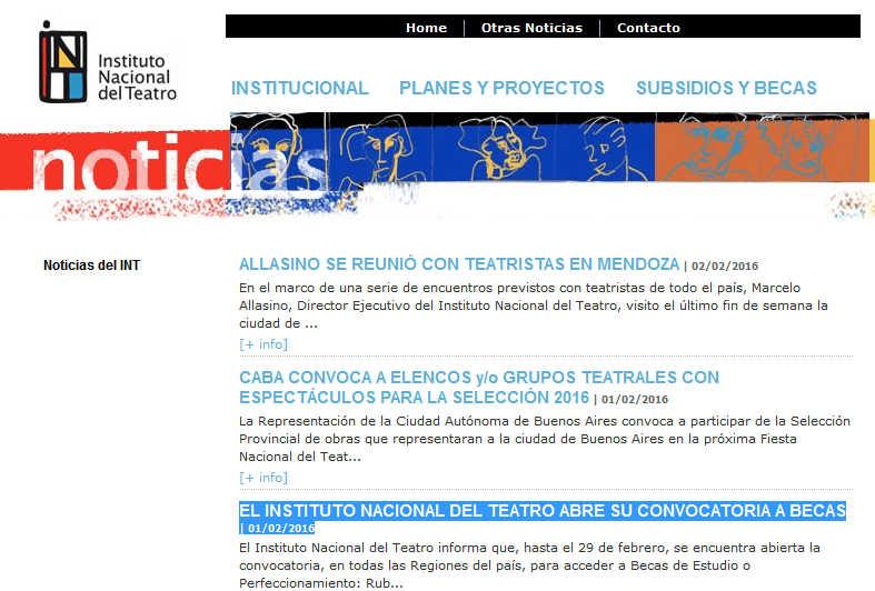 Instituto Nacional del Teatro - Argentina(1)
