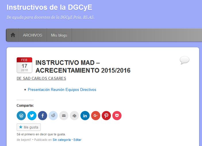 Instructivos de la DGCyE - De ayuda para docentes de la DGCyE Pcia. BS.AS.