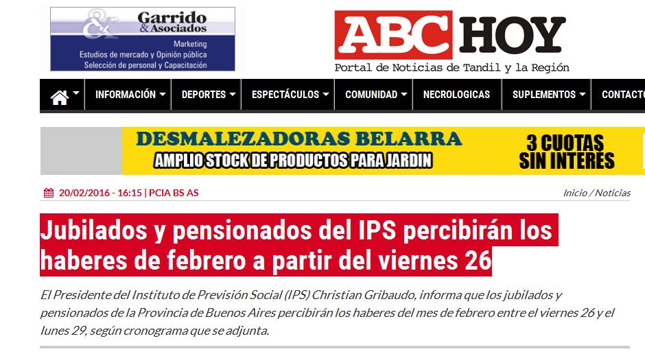 Jubilados y pensionados del IPS percibirán los haberes de febrero a partir del viernes 26