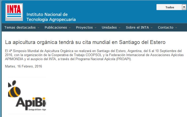 La apicultura orgánica tendrá su cita mundial en Santiago del Estero - INTA Instituto Nacional de Tecnología Agropecuaria