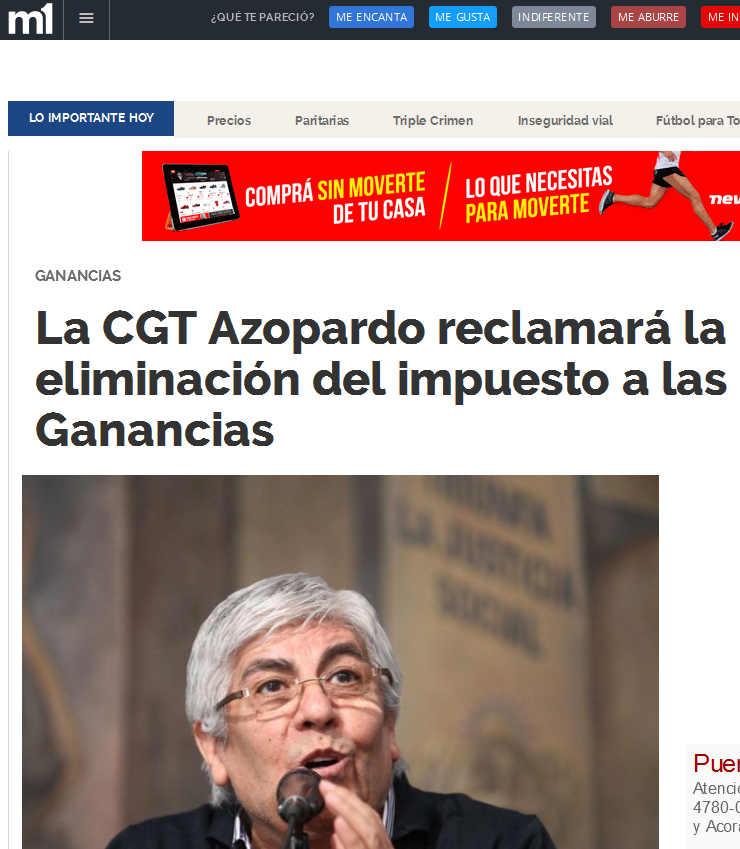 La CGT Azopardo