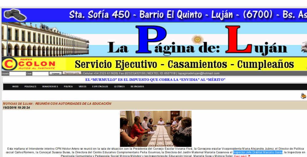 La pagina de Lujan - Noticias