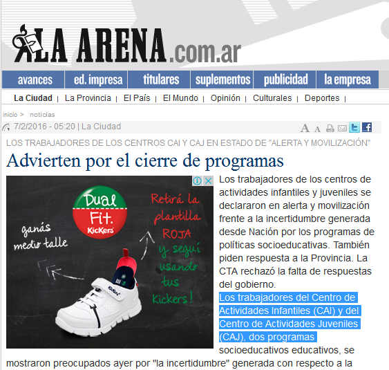 La Pampa - Advierten por el cierre de programas