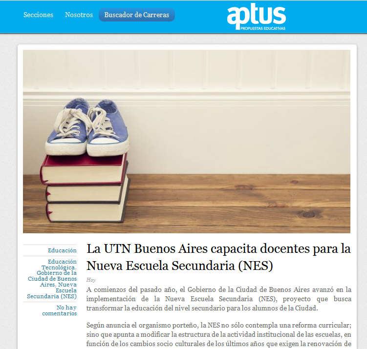 La UTN Buenos Aires capacita docentes para la Nueva Escuela Secundaria (NES)