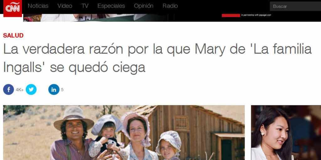 La verdadera razón por la que Mary ingalls