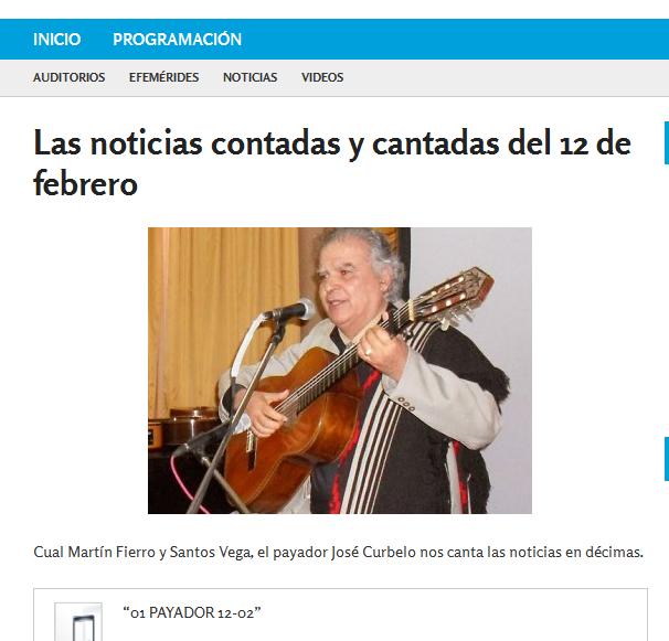 Las noticias contadas y cantadas del 12 de febrero - Nacional Folklórica