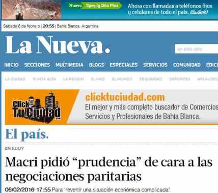 Macri pidió prudencia de cara a las negociaciones paritarias