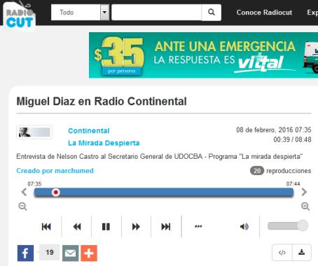 Miguel Diaz en Radio Continental - Radiocut