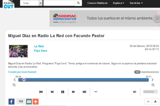 Miguel Diaz en Radio La Red con Facundo Pastor - Radiocut