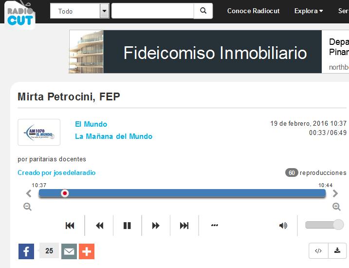 Mirta Petrocini, FEP - Radiocut