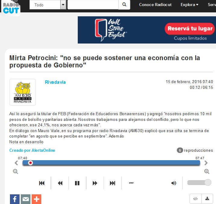 Mirta Petrocini 'no se puede sostener una economía con la propuesta de Gobierno' - Radiocut