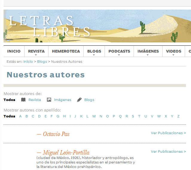 Nuestros autores - Letras Libres